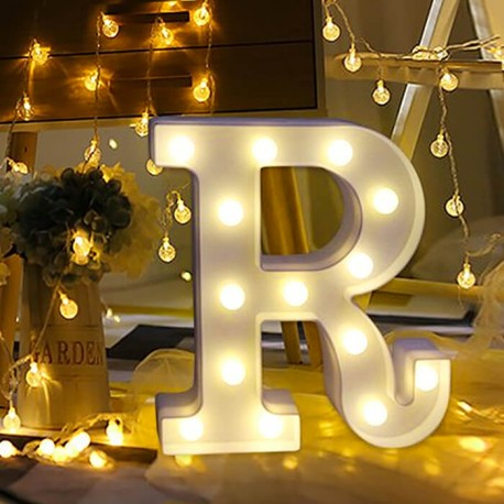Marquee LED Light Letter R