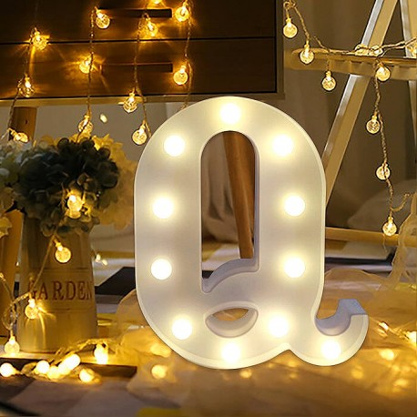 Marquee LED Light Letter Q
