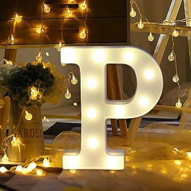 Marquee LED Light Letter P