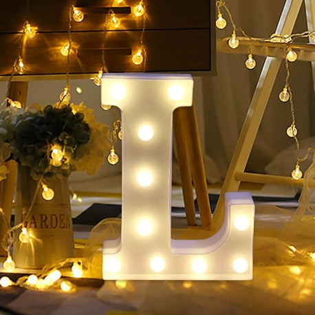 Marquee LED Light Letter L
