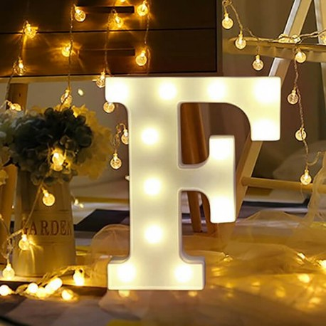 Marquee LED Light Letter F
