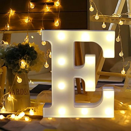 Marquee LED Light Letter E