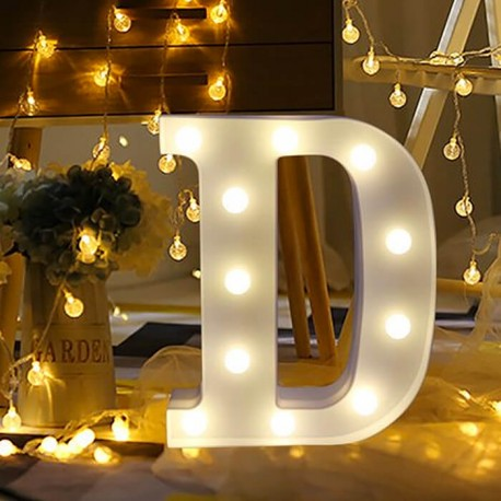 Marquee LED Light Letter D