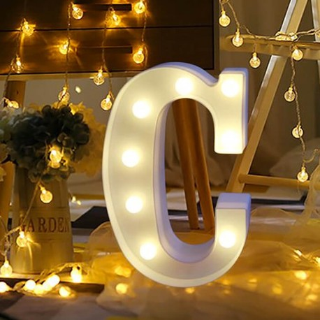 Marquee LED Light Letter C