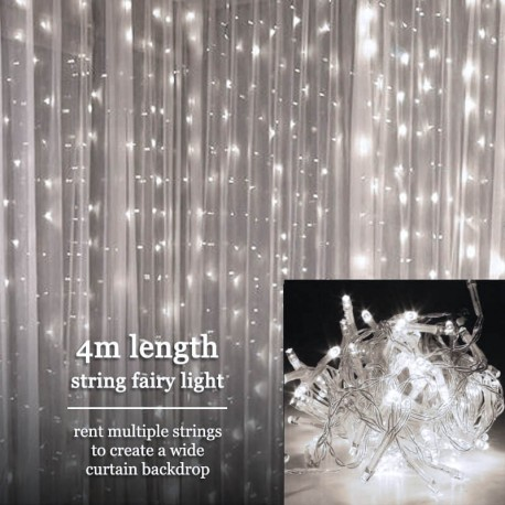 White Fairy Light Rental Singapore