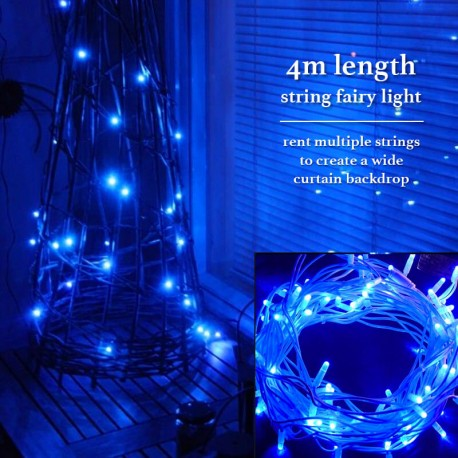 Blue Fairy Lights Rental Singapore