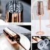 Rent: Tall Rose Gold Champagne Glasses (set of 2)