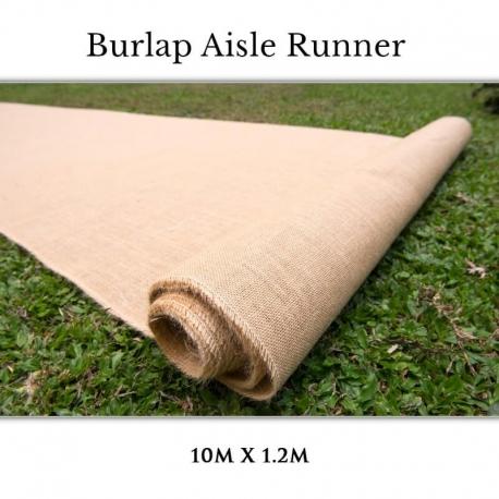 Burlap Aisle Runner for Wedding