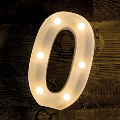 Alphabet Marquee Light Number 0
