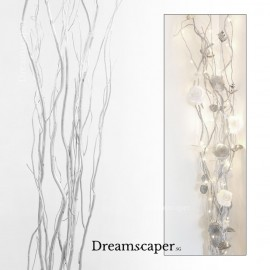 Silver willow decorative branches for xmas and weddings