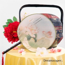 Round chinese hand fan decoration rental singapore