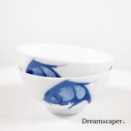 1950s old times blue white chinese rice bowls rent