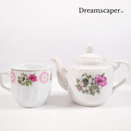 retro chinese teapot tea cup singapore rental