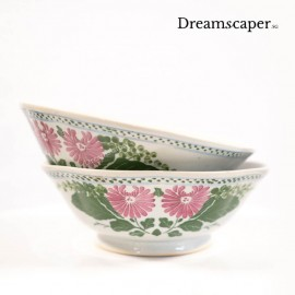 handcrafted retro soup bowl dining peranakan style
