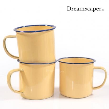 retro tableware kopitiam vintage metal cups rental