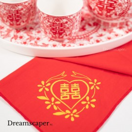 chinese wedding favours shuang xi wedding handkerchief