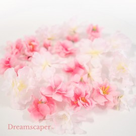 Rent: Artificial loose flower petals (pink, 20 pcs)