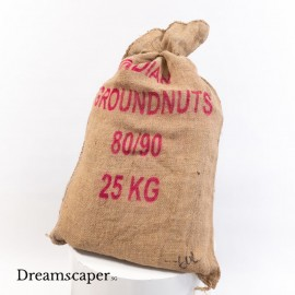 burlap sack gunny sack with wordings traditional decor