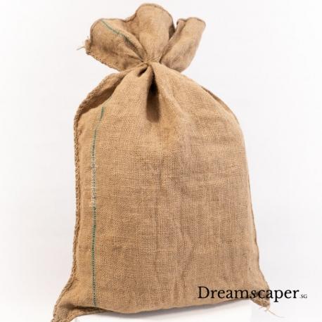 asian olden days traditional burlap sack brown sack