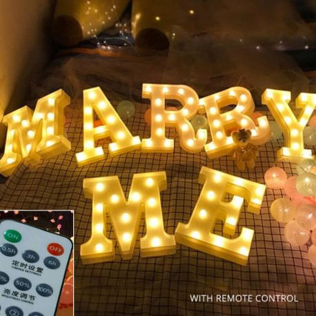 Marry Me Marquee LED Lights (Remote)