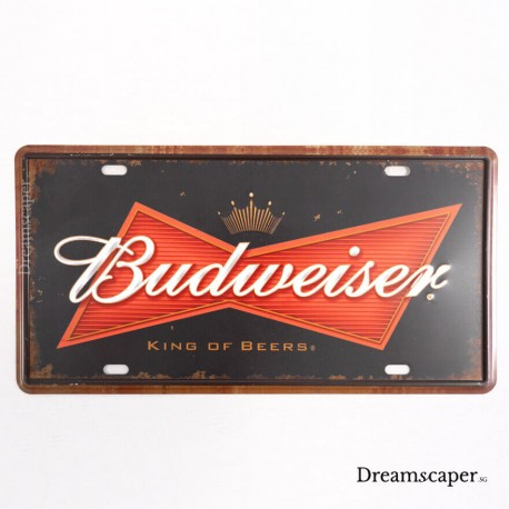 retro tin sign beer sign rustic western pub