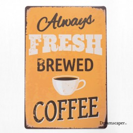 Retro metal signs for vintage cafe decor
