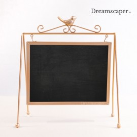rose gold small chalkboard wedding reception decor rental