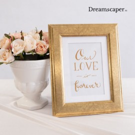 Rustic photo frame for wedding decor rental