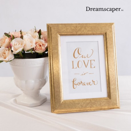 Rustic photo frame for wedding decor rental