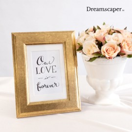 Small rustic gold photo frame for rent singapore