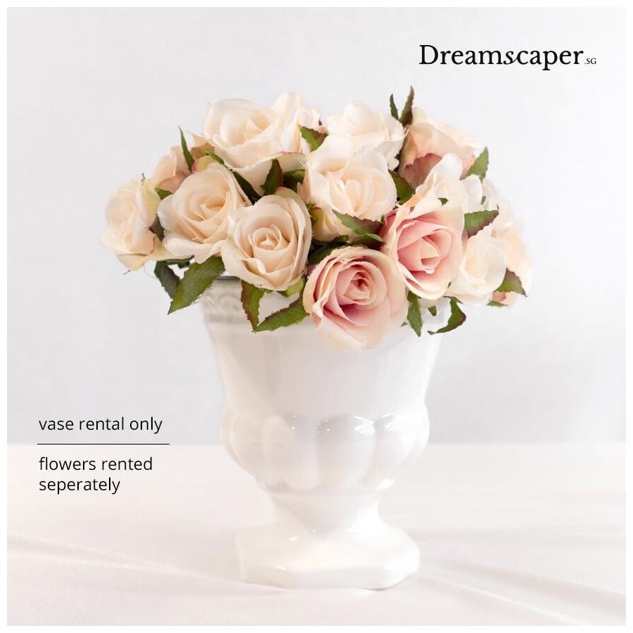 Small White Ceramic Vase Flower Vase Rental Singapore Dreamscaper Sg