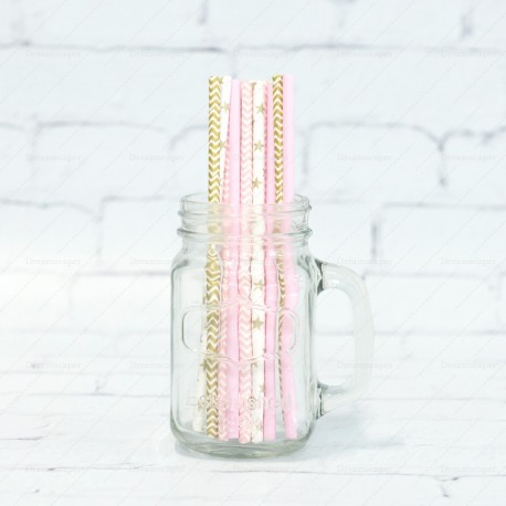 Party Straws: Pink Gold
