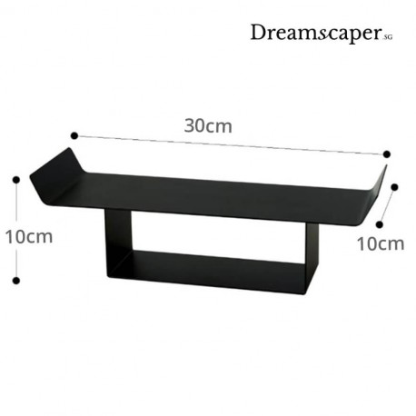 Black Rectangle Oriental Display Stand