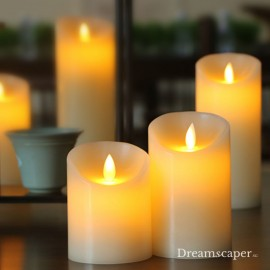 Rent: LED White Candles (set of 3)