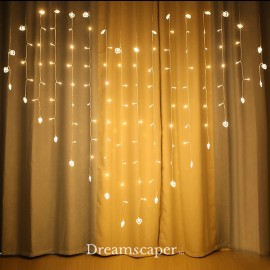 romantic backdrop fairylight curtain for marriage proposal