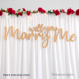 Wedding Proposal Props Rental Singapore Backdrop Sign