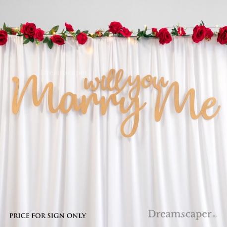 Wedding Proposal Props Rental Singapore Backdrop Sign