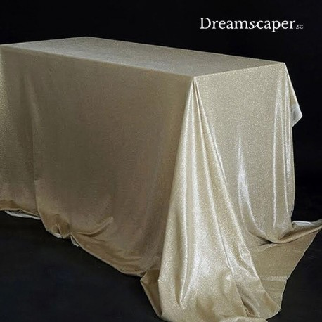 Gold table cloth for party rental Singapore
