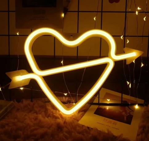 LED Heart Arrow