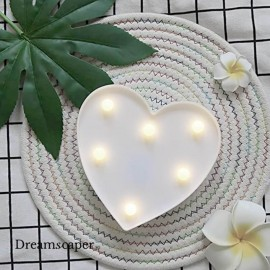 White Heart LED Light Rental Singapore