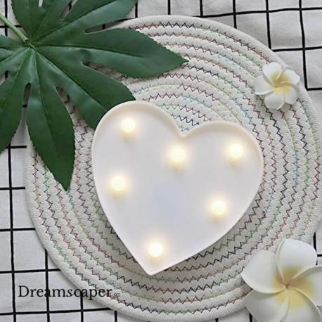 White Heart LED Light Rental Singapore