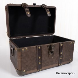 Beautiful Vintage Brown Treasure Box for Rent