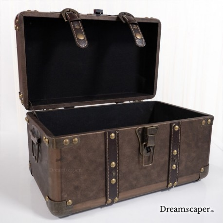 Beautiful Vintage Brown Treasure Box for Rent
