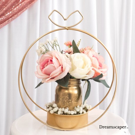 Pink Rose Table Decoration for Wedding Singapore