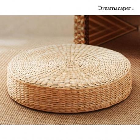 Zen Style Tatami Rattan Round Cushion