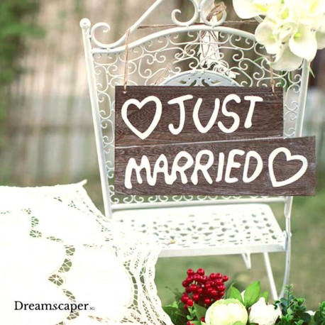Wedding Chair Sign for Rent Singapore