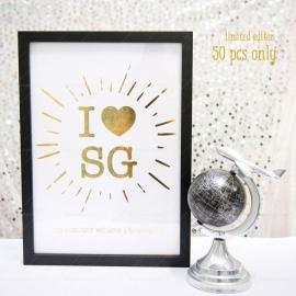 I Love SG Gold Print