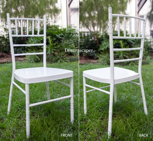 White Tiffany Chair Rental Singapore
