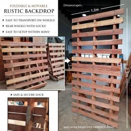 Rustic Wedding Backdrop Rental Singapore