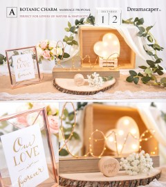 Rustic Marriage Proposal Decor